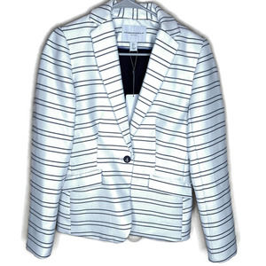 Katherine Barclay Womens blazer jacket white small